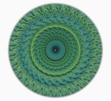 Green  Blue Mandala by Bruce Saunders