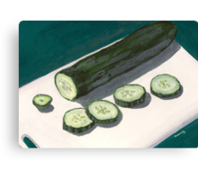 slices of cucumber Canvas Print