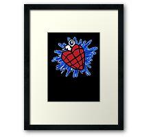 Heart Hand Grenade  Framed Print