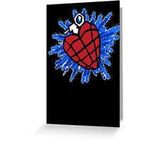 Heart Hand Grenade  Greeting Card