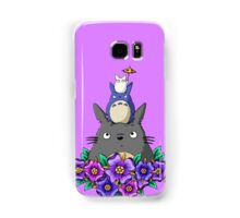 Totoro Tower and Flowers Samsung Galaxy Case/Skin