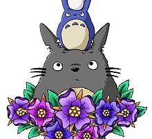 Totoro Tower and Flowers by rageofthenerd