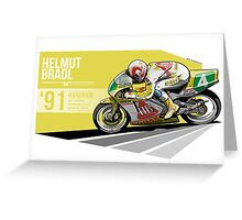 Helmut Bradl - 1991 - Hockenheim Greeting Card