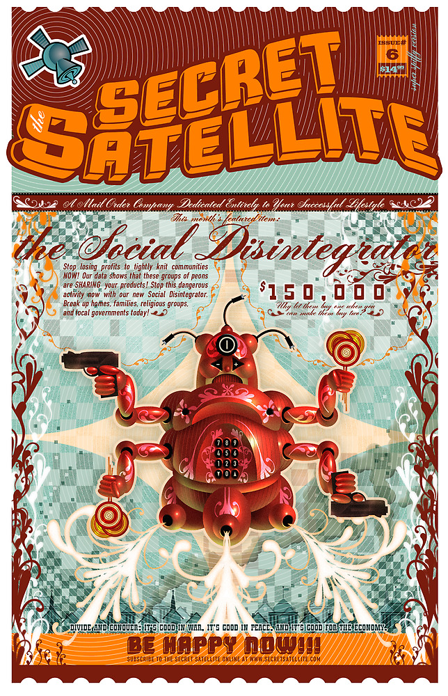 The Secret Satellite Mail Order Flyer #6 by Kristian Olson