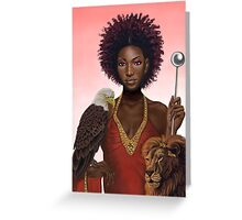 Emperor Goddess Greeting Card