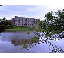 Carew Castle and mill pond  Pembroke Wales UK Photographic Print