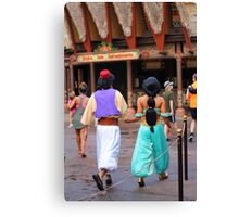 Aladdin and Jasmine Canvas Print