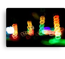 coloured rings Canvas Print