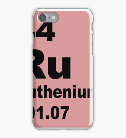 Ruthenium Periodic Table of Elements iPhone Case/Skin