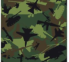 Military Camouflage Pattern Print by iEric