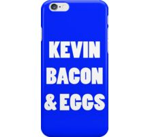 80s kevin bacon and eggs geek funny nerd iPhone Case/Skin