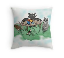 An Unusual Tea Party Throw Pillow