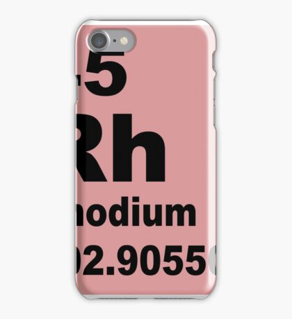 Rhodium Periodic Table of Elements iPhone Case/Skin