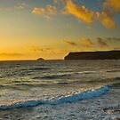 Polzeath and Newlands Island by David Wilkins