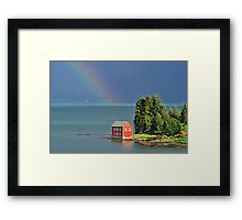 House by the Fjord Framed Print