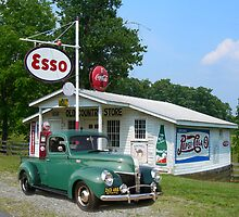 Truck at the Esso Station by BCallahan