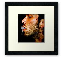 hookah exhale Framed Print