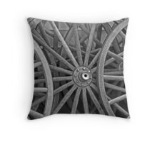 Amish Wheels Throw Pillow