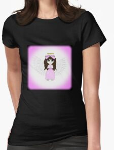 Angel in Pink Anime Womens Fitted T-Shirt