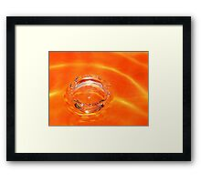 Tangerine Splash!! Framed Print
