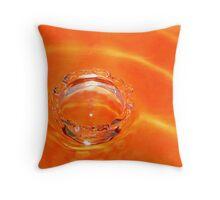 Tangerine Splash!! Throw Pillow