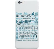 Harry Potter - All Books and Movies Quotes  iPhone Case/Skin