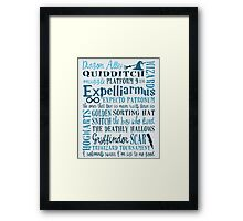Harry Potter - All Books and Movies Quotes  Framed Print