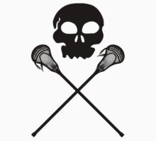 Lacrosse Skull Crossed Sticks Kids Clothes