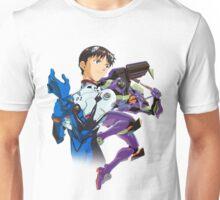 Shinji Ikari and Eva Unit-01 Unisex T-Shirt