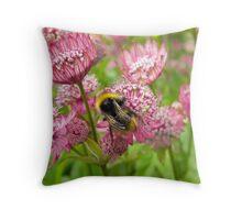 Happy Bee  Throw Pillow