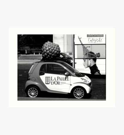 Advertisements on wheels Art Print
