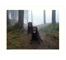 The girls at Formby Point. Art Print