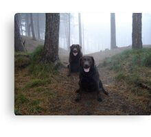 The girls at Formby Point. Canvas Print