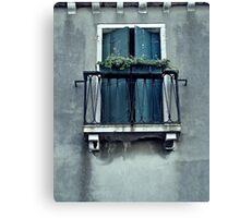 Blue Balcony Canvas Print