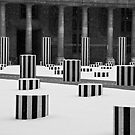 Buren Columns After the Snowfall by Virginia Kelser Jones