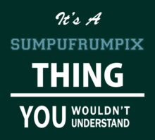 Its a SUMPUFRUMPIX thing, you wouldn't understand T-Shirt