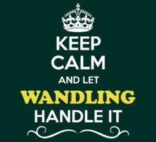 Keep Calm and Let WANDLING Handle it T-Shirt