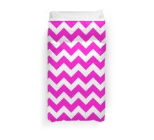Cute Pink Chevron Pattern Duvet Cover