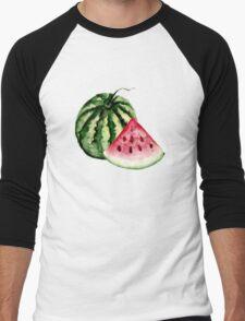 Watermelon pattern Men's Baseball ¾ T-Shirt