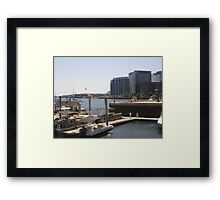 Look to the Docks of Boston Harbor Framed Print