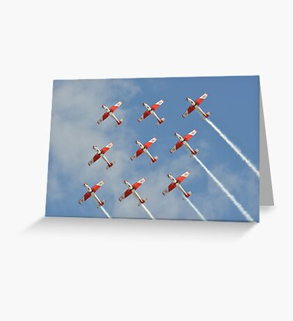 PC-7 TEAM (Swiss Air Force) Greeting Card
