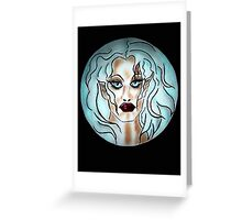 Oblivion of Crystal Realities Greeting Card