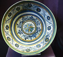 15th century Majolica plate in Hungary by Kiriel