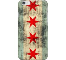 Vintage Grunge Chicago Flag iPhone Case/Skin