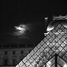 Cloudy Night - Louvre by Virginia Kelser Jones