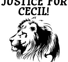 Justice For Cecil The Lion T Shirt by zandosfactry