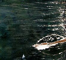 leaf on water by Leeanne Middleton
