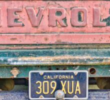 The old chevrolet Sticker