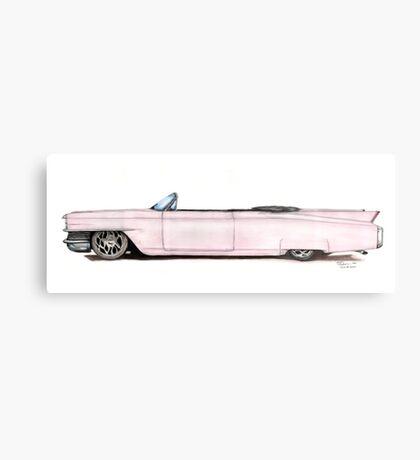 1964 Custom Pink Cadillac Metal Print