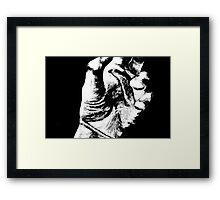 Hand Sketch  Framed Print